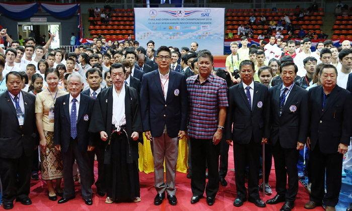 """""""บิ๊กนิดหน่อย"""" เปิดศึกคาราเต้นานาชาติไทยแลนด์ โอเพ่นฯ  ทัพนักกีฬา 17 ประเทศทั่วโลก แห่ร่วมชิงชัย"""