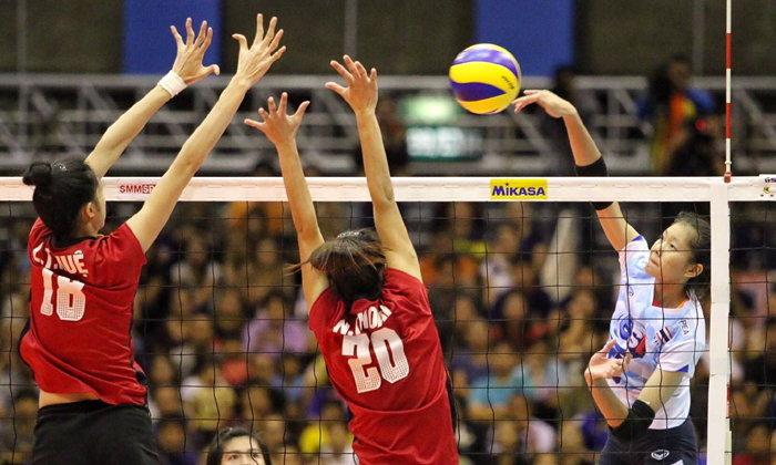 """ซิวอันดับ 3! """"ตบสาวไทย"""" คว่ำ """"เวียดนาม"""" 3-1 ชิงแชมป์เอเชีย U19"""