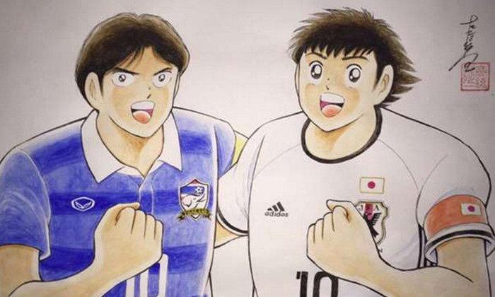 คนเขียนซึบาสะวาดภาพสุดพิเศษก่อนเกมไทยดวลญี่ปุ่น