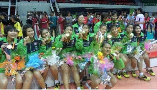 สาวนักเรียนไทยโชว์ฟอร์มแกร่ง คว่ำสาวจีน คว้าแชมป์กีฬานร.เอเชีย สมัยที่ 4
