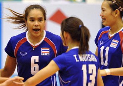 นักตบลูกยางสาวไทยเข้ารอบ8ทีมสุดท้าย