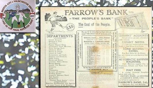 หนังสือชิงเอฟเอคัพ1909สุดล้ำค่า ถูกประมูลเป็นสถิติโลก1.17ล้าน