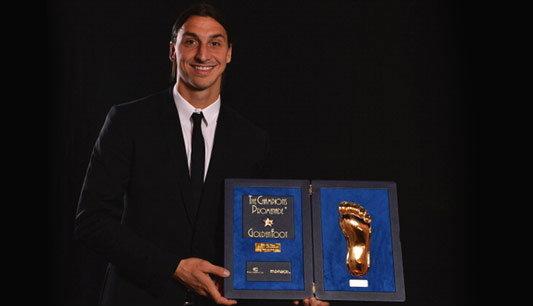 ฟุตบอล : โคตรเจ๋ง!อิบราซิวรางวัลเท้าทองคำ