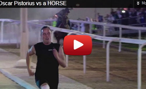 """เจ๋ง! """"พิสตอเรียส"""" ลมกรดขาเหล็ก วิ่งระยะสั้นเร็วกว่าม้า (ชมคลิป)"""
