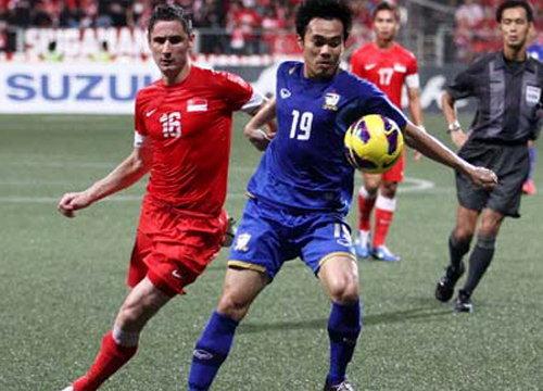 แข้งไทยบุกพ่ายสิงคโปร์1-3บอลซูซูกิคัพ