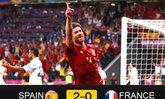 ประมวลภาพ สเปน ชนะ ฝรั่งเศส 2-0