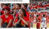 """น้ำตาท่วมประเทศ! """"สื่อเวียดนาม"""" กับภาพบรรยากาศกองเชียร์เกมพ่าย """"ไทย"""" 0-3 (อัลบั้ม)"""