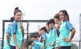 ทีมฟุตบอลหญิงไทย ซ้อมเพื่อพิชิตแชมป์ซีเกมส์