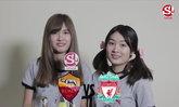 """2 สาวไอดอล """"มิ้นท์-นิ้ง Sweat16"""" ฟันธง """"โรม่า vs ลิเวอร์พูล"""" คืนนี้ (คลิป)"""