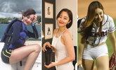 """สวยหรูดูแพง! วันนี้ของ """"ชอย ซอล-ฮวา"""" สาวเซ็กซี่โยนลูกเบสบอลในตำนาน (อัลบั้ม)"""