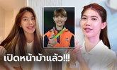 """สุดน่ารัก! """"น้องเทนนิส"""" จอมเตะสาวทีมชาติไทยตั้งเป้าทองซีเกมส์ (ภาพ)"""