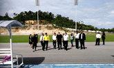 """""""ก้องศักด"""" สำรวจความคืบหน้า สร้างสนามกีฬากลางจังหวัดกระบี่ เตรียมรองรับจัดมหกรรมกีฬา"""