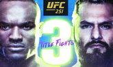 """จัดใหญ่ชิงแชมป์ 3 รุ่น! คู่เอก """"อุสมาน"""" VS """"มาสวิดัล"""" ศึก UFC 251 FIGHT ISLAND"""