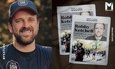 """วิ่งกระเตงฟัด : """"ร็อบบี้ เคทเชลล์"""" กับไวรัลสุดยิ่งใหญ่ใน """"นิวยอร์ก มาราธอน"""""""