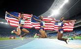 """เหมาโพเดียม! """"สาวมะกัน"""" กวาดทั้งสามเหรียญวิ่งข้ามรั้ว 100 เมตรหญิง"""