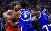 """อารมณ์มันขึ้น! """"โลเปซ"""" ฟาดปาก """"อิบาก้า"""" ศึกบาสเกตบอล NBA (คลิป)"""