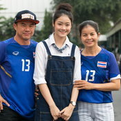 ภาพบรรยากาศและสีสันกองเชียร์ไทย