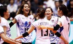 """สุดยอดไปเลยพี่น้อง! """"ลูกยางสาวไทย"""" ถล่ม """"เกาหลีใต้"""" 3-0 ทะลุชิงเจ้าเอเชีย"""