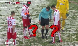 """งงด้วยฮาด้วย! หิมะตกหนักจนจุดโทษหาย """"ท่านเปา"""" เลยทำแบบนี้ซะเลย (คลิป)"""