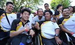 """""""นักกีฬาพาราทีมชาติไทย"""" ร่วมวิ่งกับ """"พี่ตูน"""" ใน """"โครงการก้าวคนละก้าว"""" ที่กำแพงเพชร"""