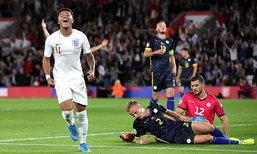"""""""ซานโช่"""" เบิ้ล! อังกฤษ ถล่ม โคโซโว 5-3 นำจ่าฝูงกลุ่มเอ คัดยูโร"""