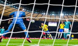 """ผลบอล : เชซุสโขกชัย! """"บราซิล"""" บุกเฉือน """"เยอรมนี"""" คาบ้าน 1-0"""