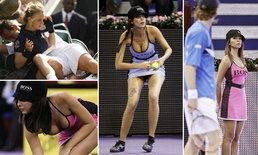 """อะไรแวบๆ?! เมื่อ """"บอลเกิร์ลเทนนิสสุดเซ็กซี่"""" แย่งซีนนักกีฬาจากผู้ชม (อัลบั้ม)"""