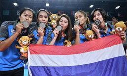 """ภาพประวัติศาสตร์! """"ทัพลูกยางสาวไทย"""" ซิวเหรียญเงินเอเชียนเกมส์ 2018 (อัลบั้ม)"""