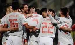 สเปน บุกทุบ มอลต้า 2-0 นำโด่งจ่าฝูงกลุ่มเอฟ คัดยูโร 2020