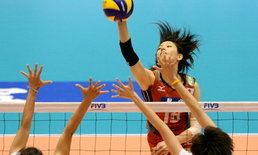 สาวไทย พ่าย ญี่ปุ่น  0-3 เซต วอลเลย์บอลหญิง เอวีซี คัพ 2014