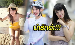 """พริตตี้สายปั่น! """"แวว อรทัย"""" สาวน้อยตัวเล็กสุดน่ารักผู้รักกีฬาจักรยาน (ภาพ)"""