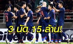 ส่องโบนัสทีมชาติไทย ผ่าน 3 เกมคัดบอลโลก รับโบนัสแล้ว 15 ล้านบาท