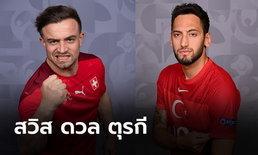 พรีวิวฟุตบอล ยูโร 2020 รอบแบ่งกลุ่ม : สวิตเซอร์แลนด์ พบ ตุรกี