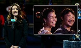 """""""หลี่ นา"""" ประกาศตั้งท้องต่อหน้าแฟนเทนนิสกว่าหมื่นคนในศึกออสเตรเลียน โอเพ่น"""
