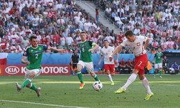 """""""โปแลนด์"""" ลุ้นเหนื่อยเฉือน """"ไอร์แลนด์เหนือ"""" หวิว 1-0"""