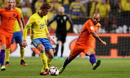 """ประเดิมเจ๊า! """"ฮอลแลนด์"""" บุกไล่ตี """"สวีเดน"""" 1-1 คัดบอลโลก"""