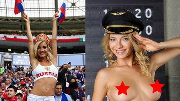 """ขุดไม่เลิก! """"สื่อนอก"""" เผยภาพลับ """"แฟนบอลสุดสวยรัสเซีย"""" สมัยถ่ายโป๊ (อัลบั้ม)"""