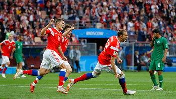 เจ้าภาพยิงโหด! รัสเซีย ถล่ม ซาอุฯ 5-0 เปิดสนามฟุตบอลโลก 2018