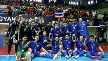"""เบอร์ 1 อาเซียน! """"โต๊ะเล็กทีมชาติไทย"""" คว่ำ มาเลเซีย 4-2 ซิวแชมป์สมัยที่ 14"""