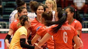 """น่าเสียดาย! """"นักตบสาวไทย"""" สู้สุดพลังพ่าย ญี่ปุ่น 1-3 คว้ารองแชมป์ลูกยางเอเชีย"""