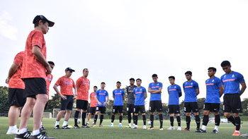 """พร้อมสู้ศึกซีเกมส์! """"นิชิโนะ"""" ประเดิมนำลูกทีมฝึกซ้อมครั้งแรกที่ฟิลิปปินส์"""
