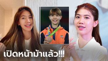 """สุดน่ารัก! """"น้องเทนนิส"""" จอมเตะสาวทีมชาติไทยฮีโร่ทองซีเกมส์ (ภาพ)"""