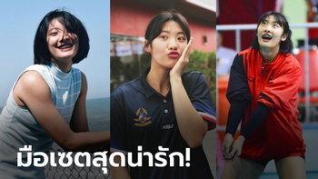 """เป็นสาวแล้ว! """"น้องนุกนิก"""" มือเซตหน้าหมวยดีกรีกัปตันเยาวชนทีมชาติไทย (ภาพ)"""