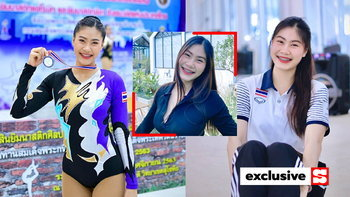 """น่ารักยิ้มเก่ง! """"ไอรดา"""" นักยิมนาสติกแอโรบิกสาวทีมชาติไทยขวัญใจหนุ่มๆ (ภาพ)"""