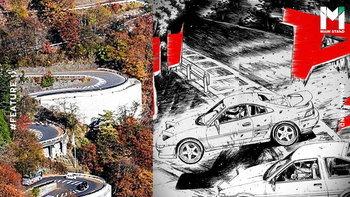 """""""อิโรฮะซากะ"""" : ทางสุดโหดใน Initial D กับตำนานการกระโดดเข้าโค้งที่โลกรอคำตอบ"""