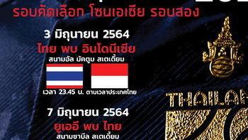 ส่องวันเวลาและสนามแข่งขัน ทีมชาติไทย บู๊คัดบอลโลก รอบสอง กลุ่มจี