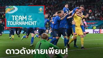 """ขัดใจแฟนบอล! ยูฟ่า ประกาศโผ """"ทีมยอดเยี่ยมยูโร 2020"""" อย่างเป็นทางการ"""