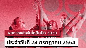 สรุปผลการแข่งขันกีฬาโอลิมปิก 2020 ประจำวันที่ 24 กรกฎาคม 2564