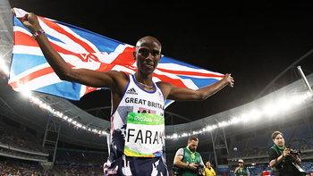 """""""โม ฟาราห์""""  ผงาดคว้าเหรียญทองวิ่ง 10,000 เมตรชาย เป็นสมัยที่ 2 ติดต่อกันได้อย่างยิ่งใหญ่"""