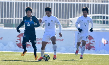"""""""ช้างศึก"""" พ่าย """"ญี่ปุ่น"""" 1-2 ซิวรองแชมป์กลุ่มแต่ต้องลุ้นเข้ารอบสุดท้าย U19"""